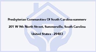 Presbyterian Communities Of South Carolina-Summerv