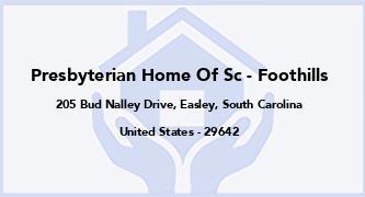 Presbyterian Home Of Sc - Foothills