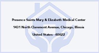 Presence Saints Mary & Elizabeth Medical Center