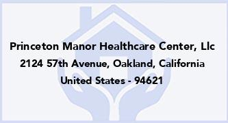Princeton Manor Healthcare Center, Llc