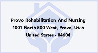 Provo Rehabilitation And Nursing