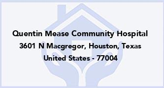 Quentin Mease Community Hospital
