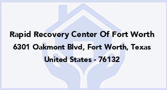 Rapid Recovery Center Of Fort Worth