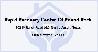 Rapid Recovery Center Of Round Rock