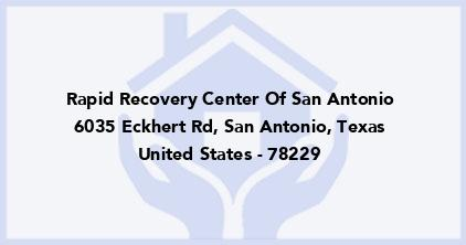 Rapid Recovery Center Of San Antonio