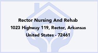 Rector Nursing And Rehab