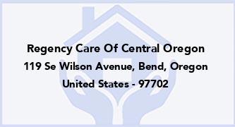 Regency Care Of Central Oregon