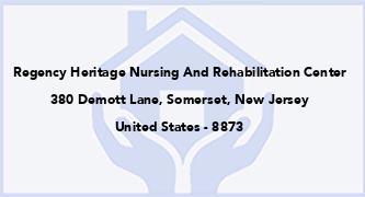 Regency Heritage Nursing And Rehabilitation Center