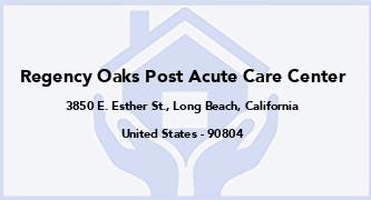 Regency Oaks Post Acute Care Center