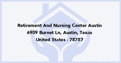 Retirement And Nursing Center Austin