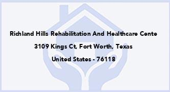 Richland Hills Rehabilitation And Healthcare Cente
