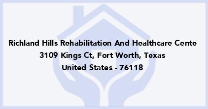 Richland Hills Rehabilitation And Healthcare Cente