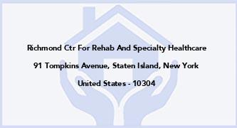 Richmond Ctr For Rehab And Specialty Healthcare