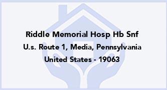 Riddle Memorial Hosp Hb Snf