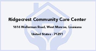 Ridgecrest Community Care Center