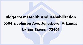 Ridgecrest Health And Rehabilitation