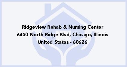 Ridgeview Rehab & Nursing Center