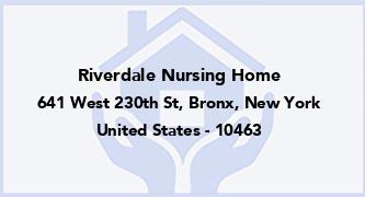 Riverdale Nursing Home