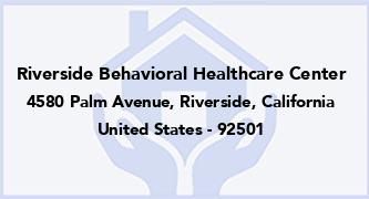 Riverside Behavioral Healthcare Center