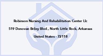 Robinson Nursing And Rehabilitation Center Llc