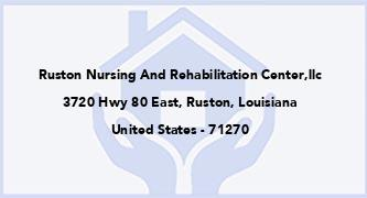 Ruston Nursing And Rehabilitation Center,Llc
