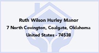 Ruth Wilson Hurley Manor