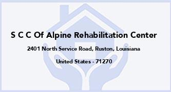 S C C Of Alpine Rehabilitation Center