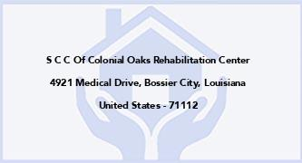 S C C Of Colonial Oaks Rehabilitation Center