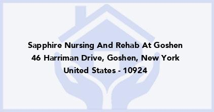 Sapphire Nursing And Rehab At Goshen