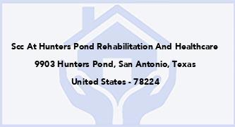 Scc At Hunters Pond Rehabilitation And Healthcare