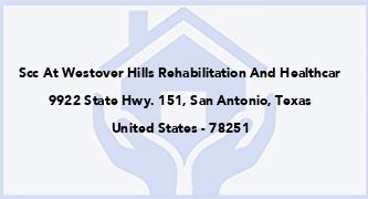 Scc At Westover Hills Rehabilitation And Healthcar