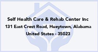 Self Health Care & Rehab Center Inc