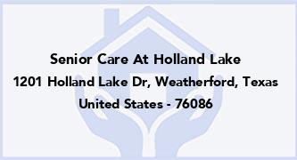 Senior Care At Holland Lake