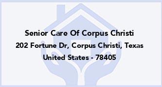 Senior Care Of Corpus Christi
