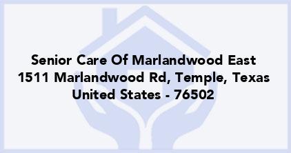 Senior Care Of Marlandwood East