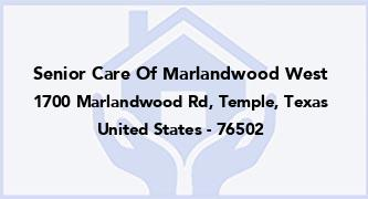 Senior Care Of Marlandwood West