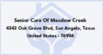 Senior Care Of Meadow Creek