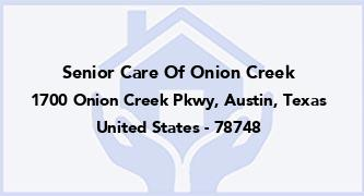 Senior Care Of Onion Creek