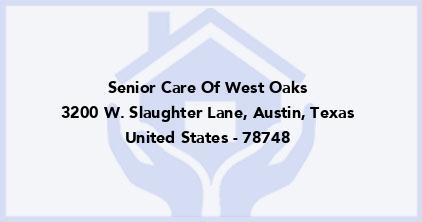 Senior Care Of West Oaks