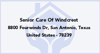 Senior Care Of Windcrest
