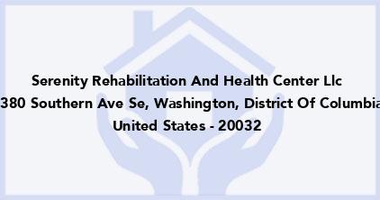 Serenity Rehabilitation And Health Center Llc