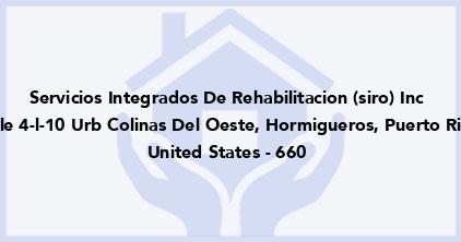 Servicios Integrados De Rehabilitacion (Siro) Inc