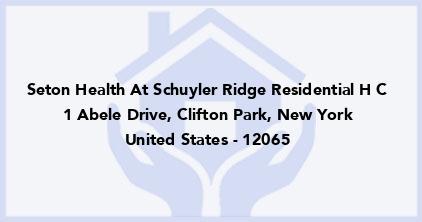 Seton Health At Schuyler Ridge Residential H C