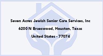 Seven Acres Jewish Senior Care Services, Inc