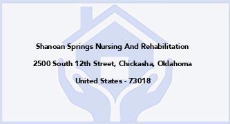 Shanoan Springs Nursing And Rehabilitation