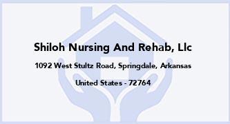Shiloh Nursing And Rehab, Llc