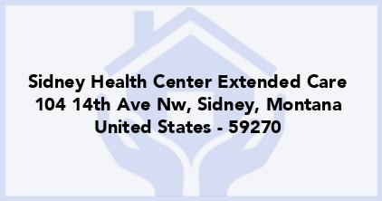 Sidney Health Center Extended Care