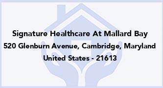 Signature Healthcare At Mallard Bay