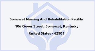 Somerset Nursing And Rehabilitation Facility