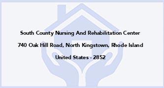 South County Nursing And Rehabilitation Center